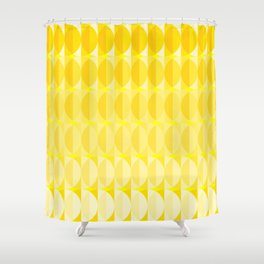 Leaves in the sunlight - a pattern in yellow Shower Curtain