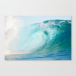 Pacific big surfing wave breaking Canvas Print