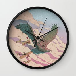 The ancient eagle Wall Clock