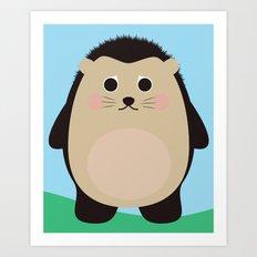 Hubert the Hedgehog Art Print