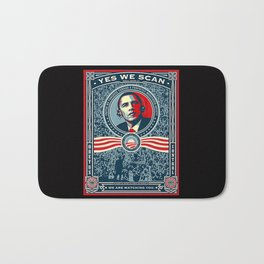 Yes We Scan Obama NSA Big Brother Spoof  Bath Mat