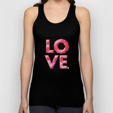 Red Faceted Love Stacked Unisex Tank Top