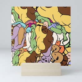 Human Slugs Mini Art Print
