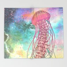 Space Jelly Throw Blanket