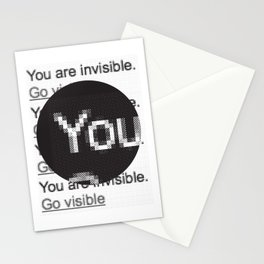 You Are Invisible / Go Visible Stationery Cards