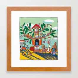 going somewhere! Framed Art Print