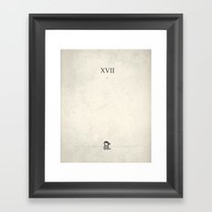 XVII: And Then She Cried Framed Art Print