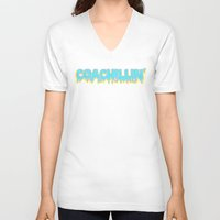 coachella V-neck T-shirts featuring Coachillin' by Sara Eshak