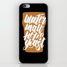 Water, Malt, Hops, Yeast iPhone Skin