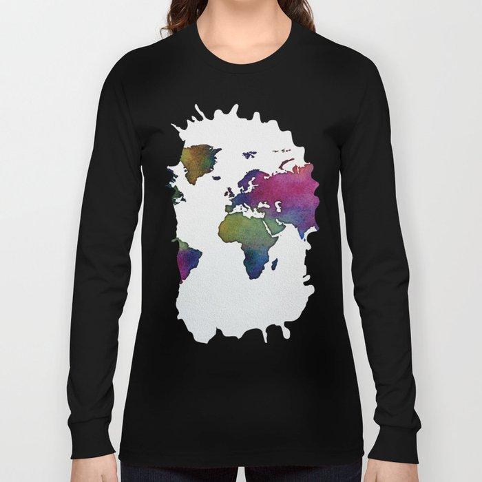 Multicolor World Map 02 Long Sleeve T-shirt