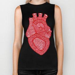 Anatomically Correct Heart Design Biker Tank