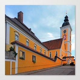 The village church of Niederwaldkirchen I   architectural photography Canvas Print