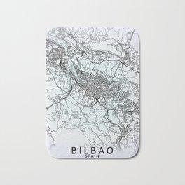 Bilbao, Spain, White, City, Map Bath Mat