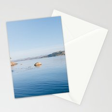 Norwegian fjord landscape in winter Stationery Cards
