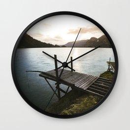 Salmon Sunrise Wall Clock