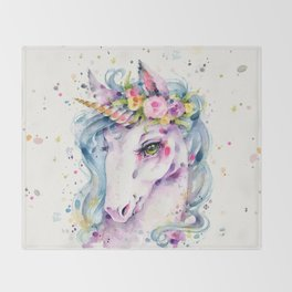 Little Unicorn Throw Blanket