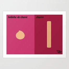 Bolinho de Chuva x Churro Art Print