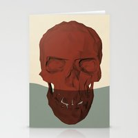 low poly Stationery Cards featuring Low poly skull by Elias Klingén