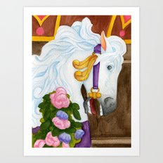 Carousel Horse - Najira Art Print
