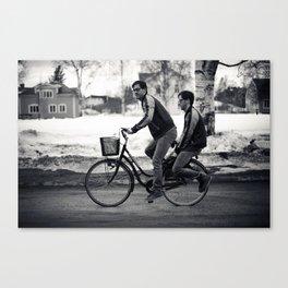 Bike riding Canvas Print