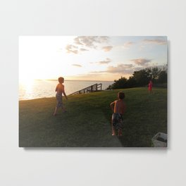 Chesapeake Beauty - Children Playing Metal Print