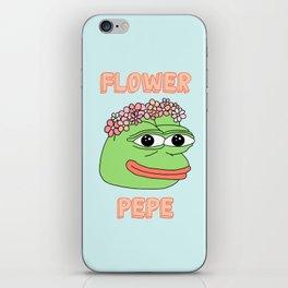 flower pepe iPhone Skin