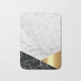 White Marble Black Granite & Gold #944 Bath Mat