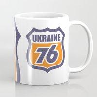 ukraine Mugs featuring DgM UKRAINE 76 by DgMa