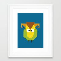 ram Framed Art Prints featuring Ram by Fairytale ink
