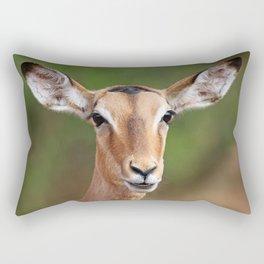 Female Impala, Africa wildlife Rectangular Pillow