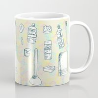 bathroom Mugs featuring Bathroom Time by Richelle Witbrodt