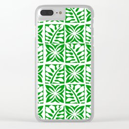 Green Christmas Clear iPhone Case