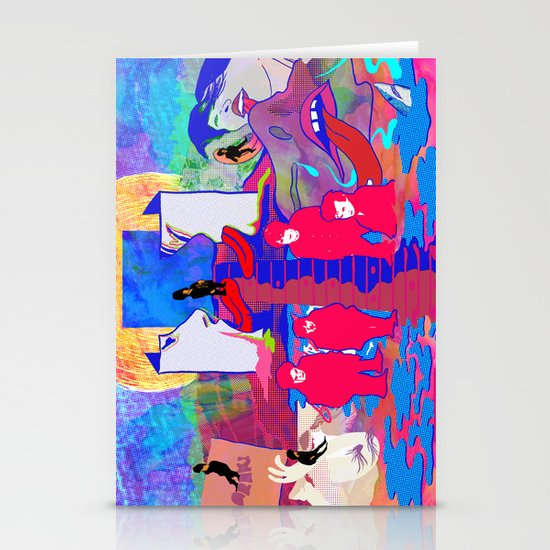 """m b v"" by Steven Fiche Stationery Cards"