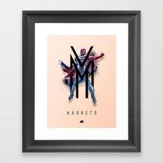Heroes and Villains Series 2: Magneto Framed Art Print