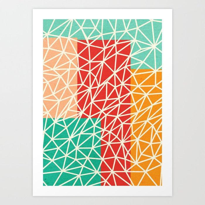 Abstract geometric art Art Print