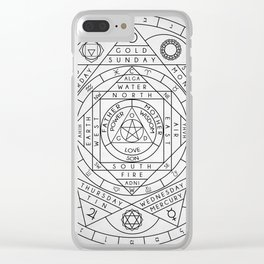 Hermetic Principles Clear iPhone Case