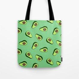 Green Vibrant Colorful Avocado Print Tote Bag