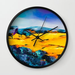 Provencal countryside Wall Clock