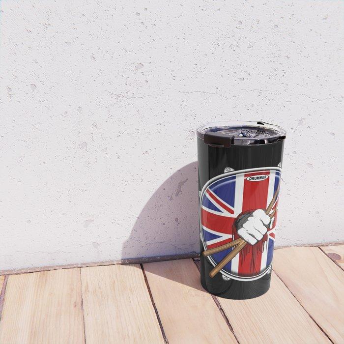 Brit Fist Drummer Travel Mug