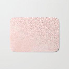 She Sparkles Rose Gold Pastel Light Pink Luxe Bath Mat