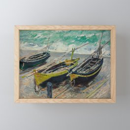Three Fishing Boats Framed Mini Art Print