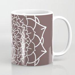 WHITE MANDALA Coffee Mug