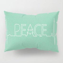 Peace Pulse Minimalist Christmas Pillow Sham