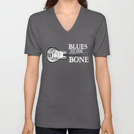 Blues To The Bone Dobro Unisex V-Neck