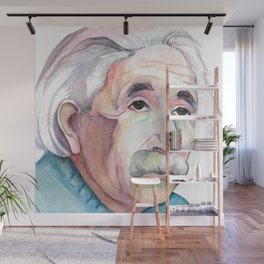 Albert Einstein Portrait Wall Mural