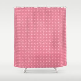 Pink Dot Pattern Design Shower Curtain