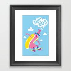 Hot Dog! Framed Art Print
