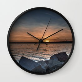 Glowing Sea Wall Clock