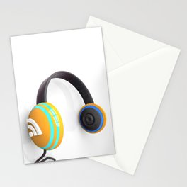 3D wifi headphones Stationery Cards