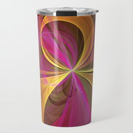 Luminous Colors, Abstract Fractal Art Travel Mug